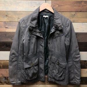 Utility Jacket Military Style Grey